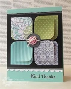 Stampin' Up Card: I've seen this using other paper. Might have to try this design concept.