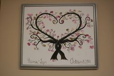 """Thumbprint trees! """"Leaf"""" your thumbprint with this alternative to a regular guest book. If you or someone you know is getting married, having a baby, or having a family reunion recommend one of my original paintings!!"""