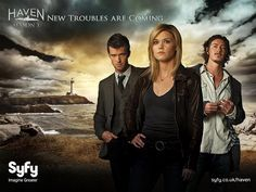 """""""Haven"""" on the SyFy channel (though I've watched most of the seasons on Netflix, which lists it under the genre """"Cult TV Shows"""").  Based on Stephen King's novel, The Colorado Kid.  I adore this show."""