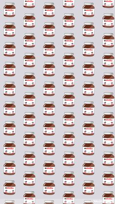 nutella, background, and wallpaper afbeelding Backgrounds Wallpapers, Tumblr Backgrounds, Cute Backgrounds, Tumblr Wallpaper, Phone Backgrounds, Cute Wallpapers, Phone Wallpapers, Iphone Wallpaper Kawaii, Wallpaper Gratis