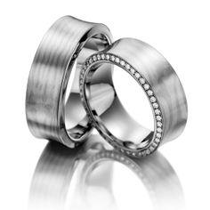 #Alianzas de #boda que nacen del corazón para carola con brillantito