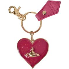 Vivienne Westwood Accessories Gadget Heart Keyring (85 NZD) ❤ liked on Polyvore featuring accessories, leather key ring, vivienne westwood, heart key ring and heart shaped key ring