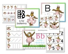 B is for Ballerina, great for a fill in week.  Both girls would love!