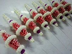 Flower Garlands, Flower Decorations, Wedding Decorations, Wedding Ideas, Church Flower Arrangements, Floral Arrangements, Indonesian Decor, Marriage Decoration, Diy Backdrop