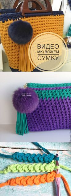 How to Crochet a Beautiful Bag Crochet Clutch Bags, Crochet Wallet, Bag Crochet, Crochet Handbags, Crochet Purses, Crochet Designs, Crochet Patterns, Best Leather Wallet, Yarn Bag