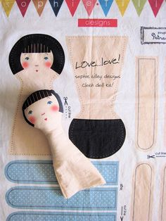 Best 12 cloth doll kits – from my friend Sophie Tilley, Sophie Tilley Designs Doll Crafts, Diy Doll, Fabric Toys, Sewing Dolls, Doll Tutorial, Dollhouse Dolls, Fairy Dolls, Soft Dolls, Cute Dolls