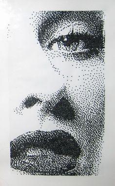 Dotted Drawings, Pencil Art Drawings, Stippling Drawing, Polka Dot Art, Dot Art Painting, Pen Art, Elements Of Art, Art Plastique, Art Sketchbook