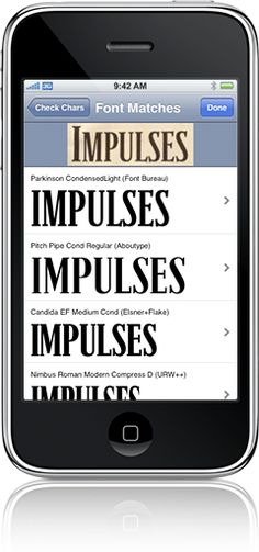Whatthefont--for the typography fanatics; this app lets you identify any font instantly using the iphone camera