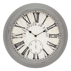 Grey antique wall clock SOLD OUT www.lambertpaint.com