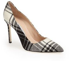 Pin for Later: The Grown Woman's Guide to Mastering Plaid Manolo Blahnik 'BB' Plaid Pointy Toe Pump Manolo Blahnik 'BB' Plaid Pointy Toe Pump ($695)