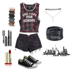 AJ #14 by laska800 on Polyvore featuring moda, Filles à papa, Converse, ABS by Allen Schwartz, Wet Seal, Bobbi Brown Cosmetics and Urban Decay