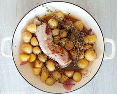My Culinary Curriculum: Filet mignon de porc au thym et pommes de terre gr...