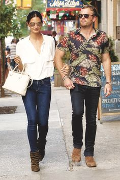 Caleb Followill and Lily Aldridge out in NYC 7/8/14