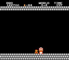 Thank You Mario! - Super Mario Brothers Animated Text Generator