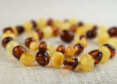 Amber teething necklace. Baltic amber. Baltic by BalticAmberCity
