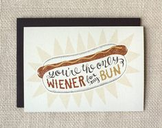wiener Valentine's Day card | Wit & Whistle