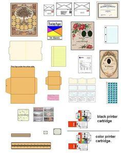 printables miniatures - Pesquisa Google