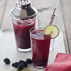 For a delicious spin on the classic mojito, try this version. Sweet, tart, and bursting with fruity flavor, blackberries are an outstanding addition.