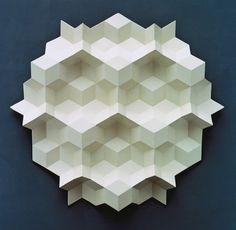 Rhombohedra relief sculptures / Gerard Caris