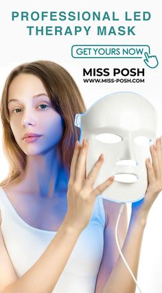 Professional LED Therapy Device Facial Skin Care Mask ✨ www.Miss-Posh.com Free Delivery Worldwide 📦🚚 Facial Skin Care, Facial Masks, Led Therapy, Pimples, Collagen, Free Delivery, Skincare, Medical, Pure Products