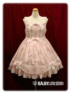 Princess Honey's Tea Salon Rose Ribbon JSK (Pink) - Baby, the Stars Shine Bright