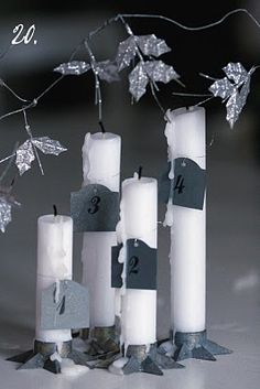 This gives me an idea for countdown candles! When December comes a candle a day with a different scent up until Christmas!