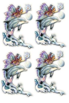 d Image Stitching, Diy And Crafts, Paper Crafts, Decoupage Printables, 3d Fantasy, 3d Cards, Merfolk, Decoupage Paper, Printable Paper
