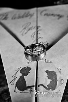 """Paperman"" inspired wedding ring photo"