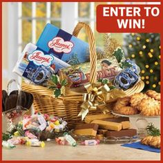 Enter James' Candy #MarchIntoSpring Giveaway for a chance to win this gift basket! Click on this pin to enter!