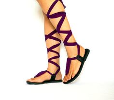 Gladiator Leather Sandals womens sandals lace up by LaBohemeIndien