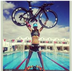 This picture is everything triathlon!