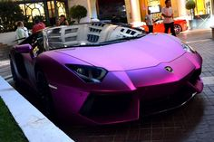 Matte Purple Lamborghini Aventador im usually not car obsessed, but i want a car...and this one looks pretty nice.