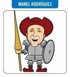 Caricatura de Manel Rodríguez. Periodista.