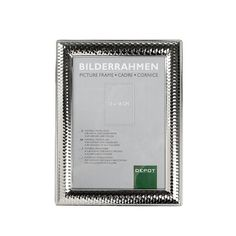 Bilderrahmen Metall silber 13x18 cm