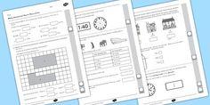 Year 4 Maths Assessment: Measurement Term 1