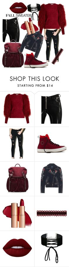 """""""Fall, here I come!"""" by ivona098 ❤ liked on Polyvore featuring Sonia Rykiel, Alyx, Klique B, Converse, M Z Wallace, True Religion, Lime Crime and Miss Selfridge"""