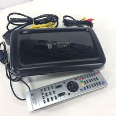 Popcorn Hour Model A-200 Networked Media Tank HD w Remote and Cords Tested Works #PopcornHour