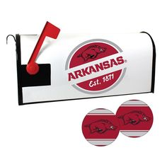 Arkansas Razorbacks Magnetic Mailbox Cover & Decal Set, Multicolor