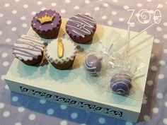 Cupcakes para a princesa Isadora! O aniversário teve tema da Princesa Sofia da Disney. #zoebakes #cupcakes #sofiathefirst #princess #princesasofia #disney