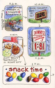 Everyday Artist: Road Trip Sketches