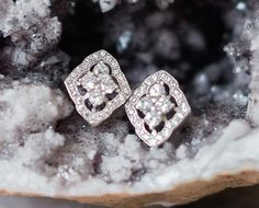 These simple and elegant Art Deco inspired stud earrings are carefully handmade using Swarovski crystals, a perfect choice for the classic bride. Pearl Earrings Wedding, Bridal Earrings, Crystal Earrings, Bridal Jewelry, Stud Earrings, Eternity Ring Diamond, Diamond Art, Round Cut Diamond, Eternity Rings