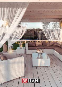 Lounge Set Rattan, Outdoor Furniture Sets, Outdoor Decor, Pergola, Beide, Garden, Flowers, Home Decor, Home