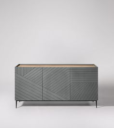 Lima Lima Contemporary Sideboard in Grey Sideboard Dekor, Sideboard Modern, Small Sideboard, Credenza, Sideboard Ideas, Apartment Furniture, Living Room Furniture, Cheap Furniture, Furniture Design