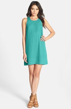 Free shipping and returns on Leith Racerback Shift Dress at Nordstrom.com. A sweet shift dress is simply detailed with a raised seam along the hemline and a sporty racerback.
