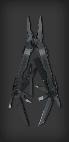 Gerber Multi-Tool - Matte Black, they're one of the originals besides Leatherman and still in the game. Edc Tactical, Tactical Survival, Survival Tools, Survival Prepping, Bushcraft, Edc Gadgets, Military Gear, Edc Tools, Cool Gear