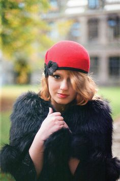 Cloche Hat with Beaded Detail  Winter fashion by MaggieMowbrayHats, £120.00