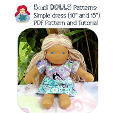 simple dress Doll Clothes Patterns, Clothing Patterns, Simple Dresses, Teddy Bear, Tutorials, Dolls, Animals, Velvet, Simple Gowns