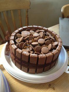Chocolate overload cake homemade birthday easy
