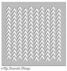 Add a trendy look to your mixed media projects with the Wonky Chevron MIX-ables Stencil by My Favorite Things. Included in the package is one stencil, which Simon Says Stamp, Card Maker, Clear Stamps, Card Stock, Chevron, Stencils, Paper Crafts, Scrapbook, Crafty