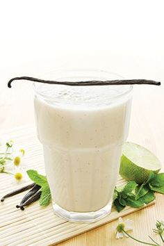 Oh my goodness! MIAMI SMOOTHIE Ingredients: Arbonne Essentials Vanilla Protein Shake Mix Arbonne Essentials Daily Fiber Boost fresh mint fresh lime juice lime zest coconut water almond milk